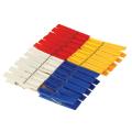 Прищепки бельевые IDEA, КОМПЛЕКТ 24 шт, универсальные, пластиковые, цвет микс, М 2235