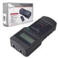 Тестер цифровой CABLEXPERT NCT-3, для сетевого, коакс-го и тел. кабелей, разъемы RG-45/58, RJ-12/11