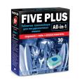 Средство для мытья посуды в п/м машинах 30шт FIVE PLUS All-in-1 (5+ все в 1), 510г, ш/к 08056