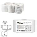Бумага туалетная 200м, VEIRO Professional (Система T2), КОМПЛЕКТ 12шт, Comfort, 2-сл, T203