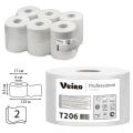 Бумага туалетная 125м, VEIRO Professional (Система T2), КОМПЛЕКТ 12шт, Comfort, 2-сл, T206