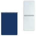 Блокнот А5 80л., гребень, пласт. обл., HATBER, Темно-синий, 145*205мм