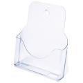 Подставка для рекламных материалов СТАММ настольная/настенная, формат А4, 235х98х270 мм, прозрачная, БК10