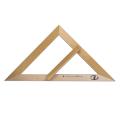 Треугольник для классной доски (треугольник классный) дерев. 45*45*90град.,равнобедр.,без шкалы С370
