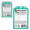 Бейдж BRAUBERG, 105х75 мм, вертикальный, жесткокаркасный, без держателя, зеленый, 235757