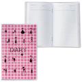 Ежедневник недатированный А6, 101*160 мм, 50л., с шариковой ручкой, прозрачная обложка ПВХ, CATS, ДПС, 2528-3