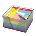 Блок для записей ERICH KRAUSE в подставке прозрачной, куб 9*9*5, цветной