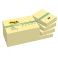 Блоки самоклеящ. (стикеры) POST-IT Optima, КОМПЛЕКТ 12 шт., 38х51 мм, 100 л., желтый, 653-OY
