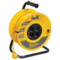 Удлинитель на катушке IEK (ИЕК) INDUSTRIAL, ГОСТ Р51539, 4 розетки, 30м, 3х1мм, 2200Вт, с зазем.