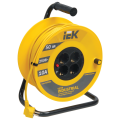 Удлинитель на катушке IEK (ИЕК) INDUSTRIAL, ГОСТ Р51539, 4 розетки, 50м, 3х1,5мм, 2200Вт, с зазем.