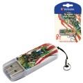 Флэш-диск 8GB VERBATIM Mini Tattoo Edition Dragon USB 2.0, белый с рисунком, 49884