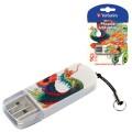 Флэш-диск 8GB VERBATIM Mini Tattoo Edition Phoenix USB 2.0, белый с рисунком, 49883
