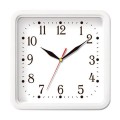Часы настенные TROYKA 81810835 квадрат, белые, белая рамка, 26х26х3,5см