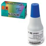 Краска штемпельная NORIS синяя 25мл,(универс. для глянц. бумаги, металла, пластмасс и т.д.),191Ас
