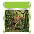 """Сумка для обуви BRAUBERG (БРАУБЕРГ) для учеников начальной школы, плотная, """"Динозавр"""", зеленая, 45х35 см"""