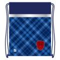 """Сумка для обуви BRAUBERG (БРАУБЕРГ) для учеников начальной школы, плотная, """"Оксфорд"""", синяя, 45х35 см"""