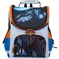 Ранец жесткокаркасный BRAUBERG, для начальной школы, мальчик, Космолет, 17 литров, 34*26*16 см