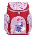 Ранец жесткокаркасный BRAUBERG для начальной школы, девочка, Роза, 14 литров, 38*29*19 см