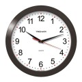 Часы настенные TROYKA 11100112 круг, белые, черная рамка, 29х29х3,5см