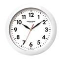 Часы настенные TROYKA 11110118 круг, белые, белая рамка, 29х29х3,5см