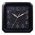 Часы настен. SCARLETT SC-52CB квадрат, черные, черн. рамка, плавный ход, 27.8x27.6x3.7 см