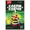 """Набор для изготовления свечи """"Праздничный торт"""", воск для лепки, фитиль, стек, LORI, Св-007"""