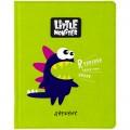 "Дневник 1-11 кл. 48л. (твердый) ""Little monster. Green"", иск.кожа, ПВХ-аппликация тон. блок, ляссе, DSK_26592"