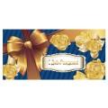 """Конверт для денег """"С Днем рождения"""", 166х82 мм, выборочный лак, бант, BRAUBERG, 128692"""