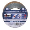 Клейкая лента алюминиевая 50 мм х 50 м, UNIBOB, морозостойкая, европодвес, 67668