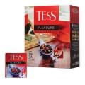 """Чай TESS (Тесс) """"Pleasure"""", черный с шиповником и яблоком, 100 пакетиков по 1,5 г, 0919-09"""