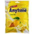 """Конфеты карамель с ксилитолом LOTTE """"Anytime"""", лимон-мята, леденцовая, 74г, пакет, Корея, ш/к 32250"""