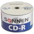 Диски CD-R SONNEN, 700 Mb, 52x, Bulk, 50 шт., 512571