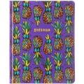 """Дневник 1-11 кл. 48л. (твердый) """"Pineapples"""", иск. кожа, ляссе, печать, DU48kh_29194"""