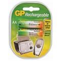 Батарейки аккумуляторные GP, АА, Ni-Mh, 1800 mAh, 2 шт., в блистере, 180AAHC-2DECRC2