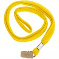 Лента для бейджей Berlingo, 45 см, металлический клип, желтый, PDk_00114