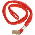 Лента для бейджей Berlingo, 45 см, металлический клип, красный, PDk_00314