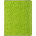 """Дневник 1-11 кл. 48л. ЛАЙТ """"Leaves pattern. Green"""", иск. кожа, ляссе, тиснение, DU48kh_29232"""