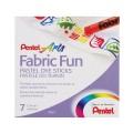 """Пастель для ткани PENTEL """"Fabric Fun"""", 7 цветов, картонная упаковка, PTS-7"""