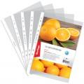 """Папки-файлы перфорированные Berlingo, комплект 100 шт., А4, """"Апельсиновая корка"""", 60мкм, матовая, AFt_04206"""