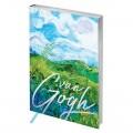 """Записная книжка А6 80л. ЛАЙТ, кожзам, Greenwich Line """"Vision. Van Gogh. Fields"""", тон. бл, сереб.срез, NA6-25408"""