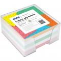 Блок для записей OfficeSpace в подставке прозрачной, куб 9-9х4,5, 60г/м, цветной, Р 153176