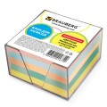 Блок для записей BRAUBERG (БРАУБЕРГ) в подставке прозрачной, куб 9-9х5, 80г/м, цветной
