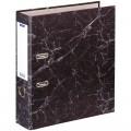 Папка-регистратор OfficeSpace 70мм, мрамор, черная, 153195