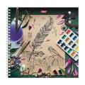 Скетчбук тетрадь для эскизов, белая бумага, 210*210мм, 120г/м, 60л, гребень, Будем рисовать, A258101