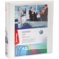 Папка на 4 кольцах с передним прозрачным карманом Berlingo, 65мм, картон/ПВХ, белая, до 400 л, ABp_46500