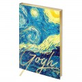 "Ежедневник недатированный А5 145*205 мм, 136л., кожзам, Greenwich Line ""Vision. Van Gogh. Night"", тон. бл, зол. срез"