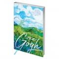 "Ежедневник недатированный А5 145*205 мм, 136л., кожзам, Greenwich Line ""Vision. Van Gogh. Fields"", тон. бл, сер. срез"