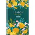 """Ежедневник недатированный A5 (135*206мм), 136л, 7БЦ OfficeSpace """"Цветы. Juicy lemon"""", матовая ламин., выбор. лак, Ен5т136_33183"""