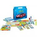"""Набор школьно-письменных принадл. ArtSpace """"Super car"""" в подарочной кор, 28 предметов,  для мальчика"""