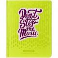 """Дневник для музыкальной школы 48л. (твердый) """"Don't stop"""", иск.кожа, тон.бл, ляссе, апплик, фольга, DMK_28503"""
